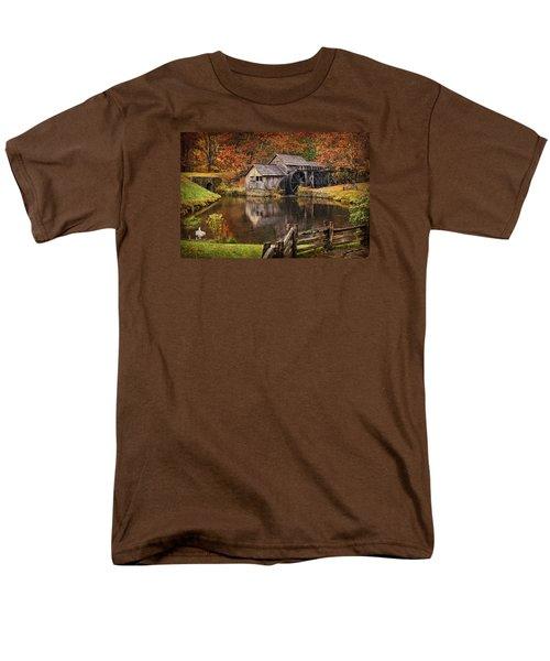 Mabry Mill Men's T-Shirt  (Regular Fit) by Priscilla Burgers