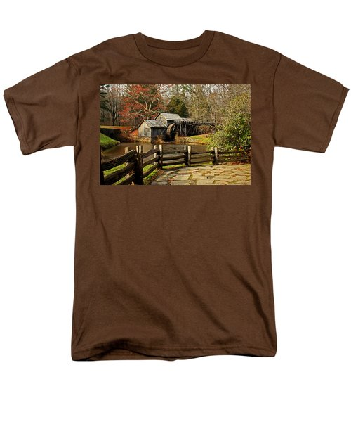 Men's T-Shirt  (Regular Fit) featuring the photograph Mabry Mill by Suzanne Stout