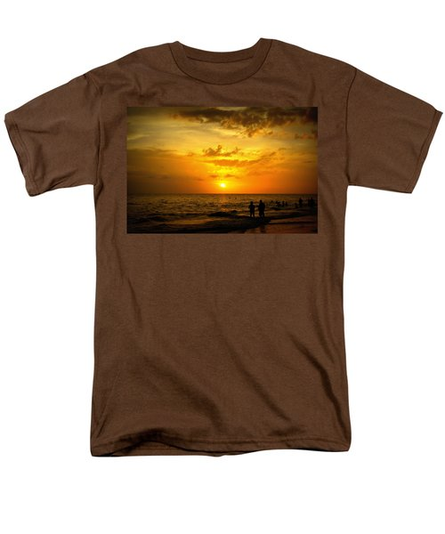 Men's T-Shirt  (Regular Fit) featuring the photograph Madeira Sunset by Laurie Perry