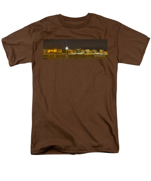Madison - Wisconsin City  Panorama - No Fireworks Men's T-Shirt  (Regular Fit) by Steven Ralser