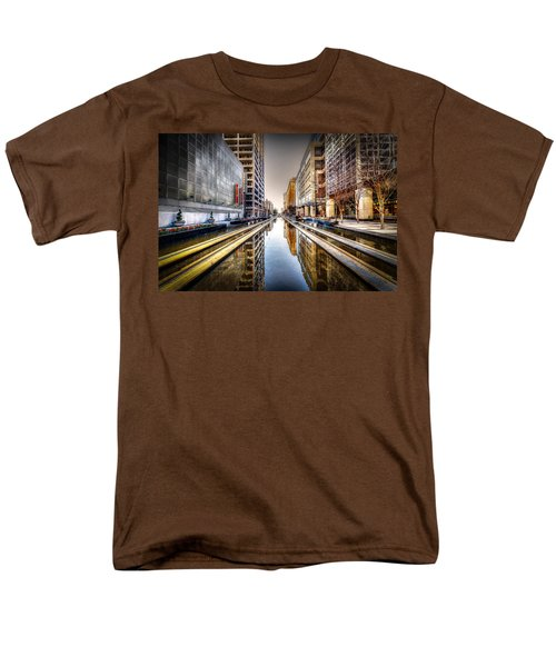 Main Street Square Men's T-Shirt  (Regular Fit) by David Morefield