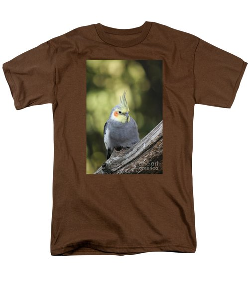 Men's T-Shirt  (Regular Fit) featuring the photograph Male Cockatiel by Judy Whitton
