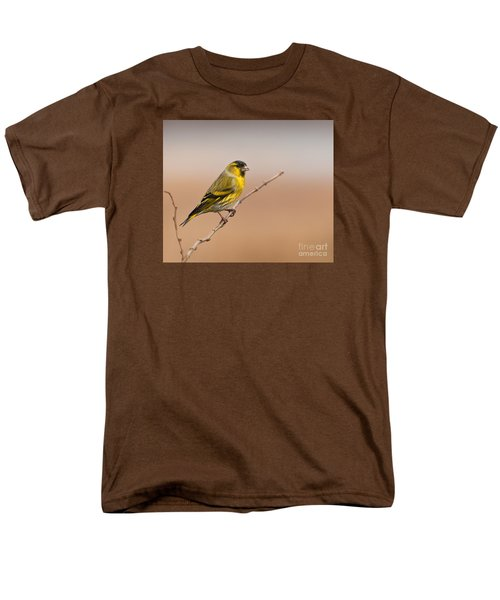 Male Eurasian Siskin Men's T-Shirt  (Regular Fit) by Liz Leyden