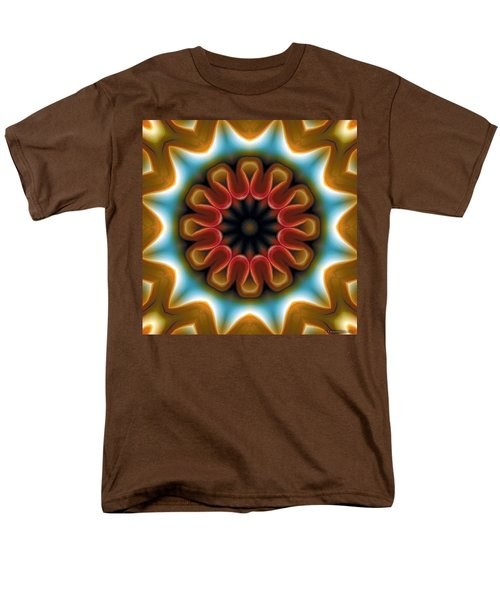 Men's T-Shirt  (Regular Fit) featuring the digital art Mandala 100 by Terry Reynoldson