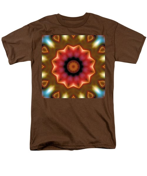 Men's T-Shirt  (Regular Fit) featuring the digital art Mandala 103 by Terry Reynoldson