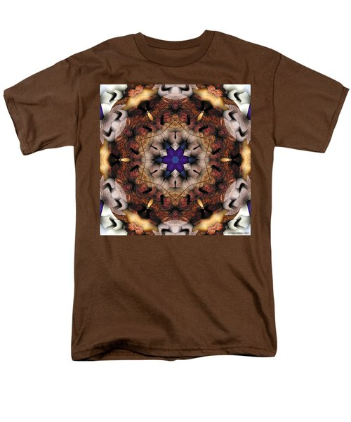 Men's T-Shirt  (Regular Fit) featuring the digital art Mandala 16 by Terry Reynoldson