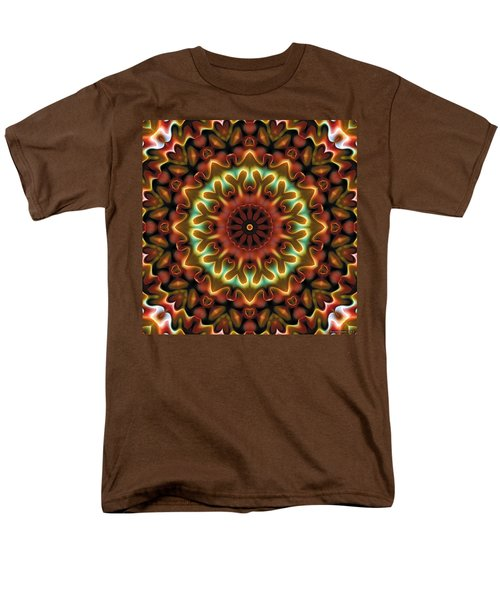 Men's T-Shirt  (Regular Fit) featuring the digital art Mandala 71 by Terry Reynoldson