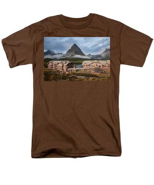 Many Glacier Hotel Men's T-Shirt  (Regular Fit) by Jack Bell