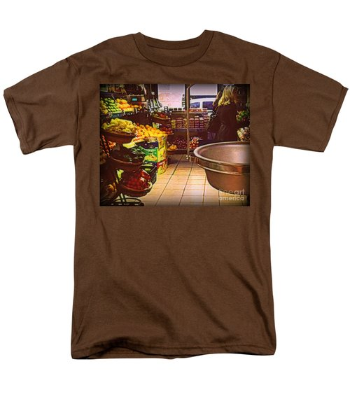 Men's T-Shirt  (Regular Fit) featuring the photograph Market With Bronze Scale by Miriam Danar