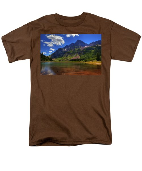Men's T-Shirt  (Regular Fit) featuring the photograph Maroon Bells by Alan Vance Ley