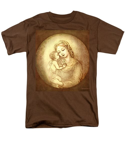 Mary And Jesus Men's T-Shirt  (Regular Fit) by Ananda Vdovic