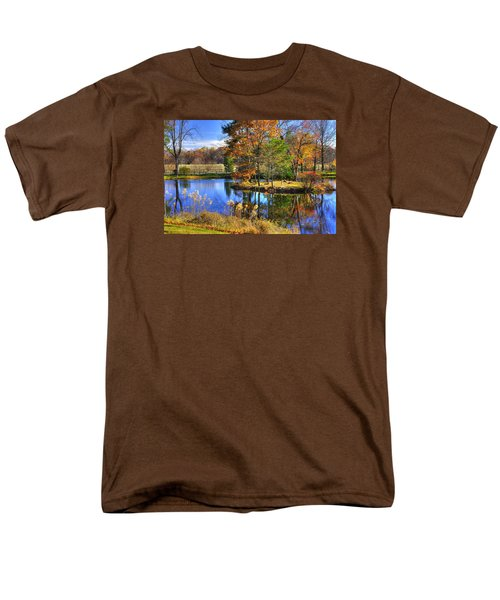 Maryland Country Roads - Autumn Respite No. 1 - Stronghold Sugarloaf Mountain Frederick County Md Men's T-Shirt  (Regular Fit) by Michael Mazaika