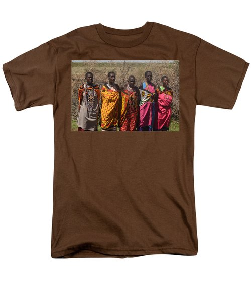 Men's T-Shirt  (Regular Fit) featuring the photograph Masai Women Chorus by Tom Wurl