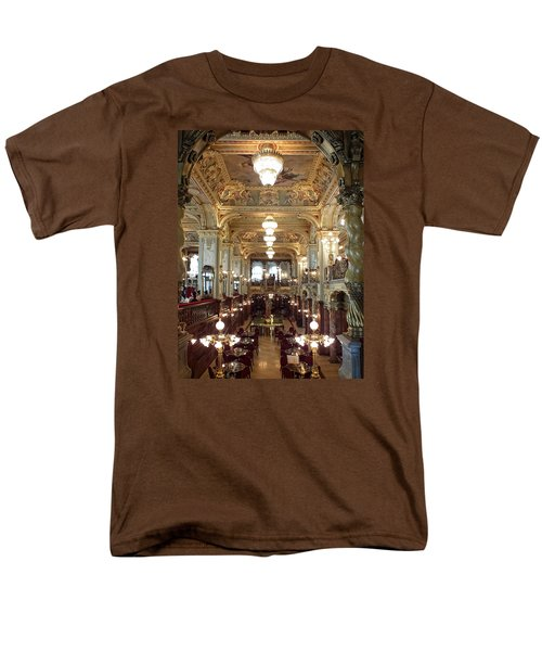 Meet Me For Coffee - New York Cafe - Budapest Men's T-Shirt  (Regular Fit) by Lucinda Walter
