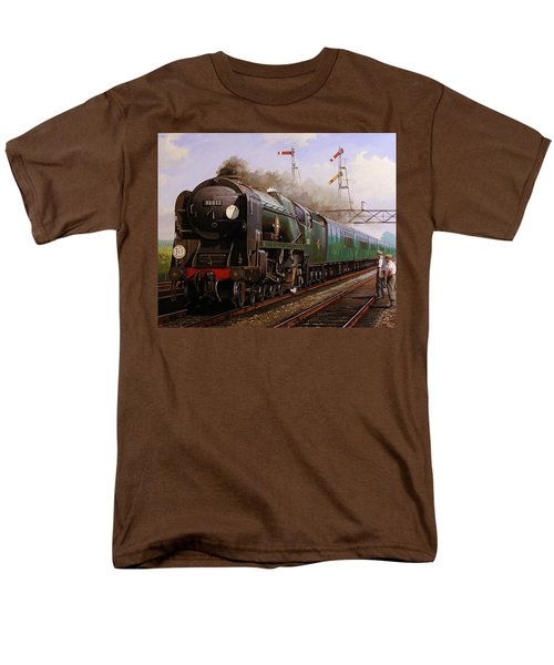 Merchant Navy Pacific At Brookwood. Men's T-Shirt  (Regular Fit) by Mike  Jeffries