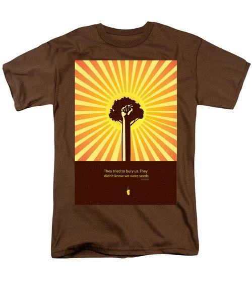 Mexican Proverb Minimalist Poster Men's T-Shirt  (Regular Fit) by Sassan Filsoof