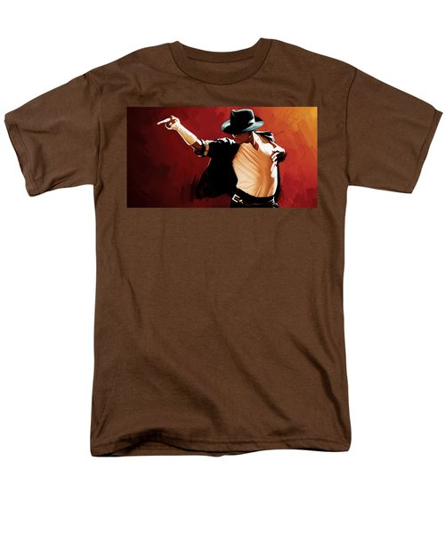 Michael Jackson Artwork 4 Men's T-Shirt  (Regular Fit) by Sheraz A