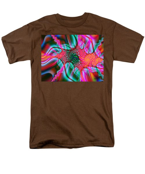Men's T-Shirt  (Regular Fit) featuring the digital art Migraine by Elizabeth McTaggart