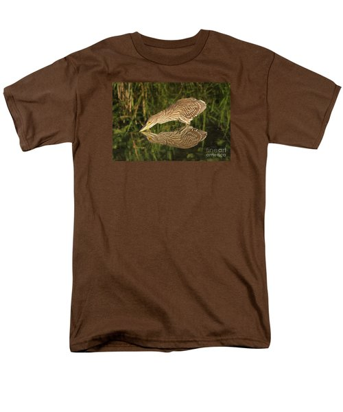 Men's T-Shirt  (Regular Fit) featuring the photograph Mirror Mirror On The Wall Who Is The Fairest Heron Of All by Heather King