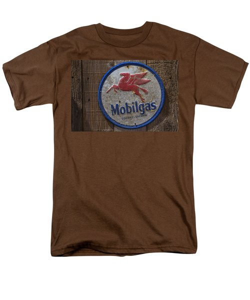 Mobil Gas Sign Men's T-Shirt  (Regular Fit) by Garry Gay