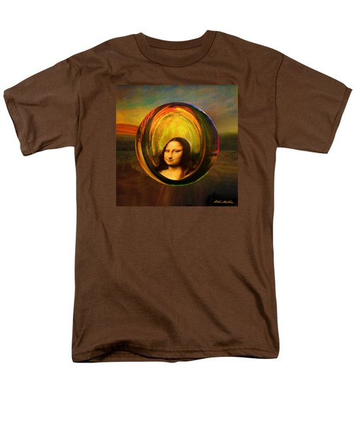 Men's T-Shirt  (Regular Fit) featuring the painting Mona Lisa Circondata by Robin Moline
