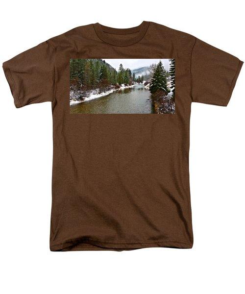 Montana Winter Men's T-Shirt  (Regular Fit) by Susan Kinney