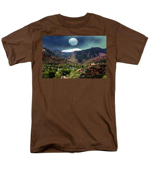 Moon Over Manitou I Men's T-Shirt  (Regular Fit) by Lanita Williams