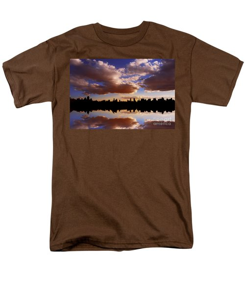 Morning At The Reservoir New York City Usa Men's T-Shirt  (Regular Fit) by Sabine Jacobs