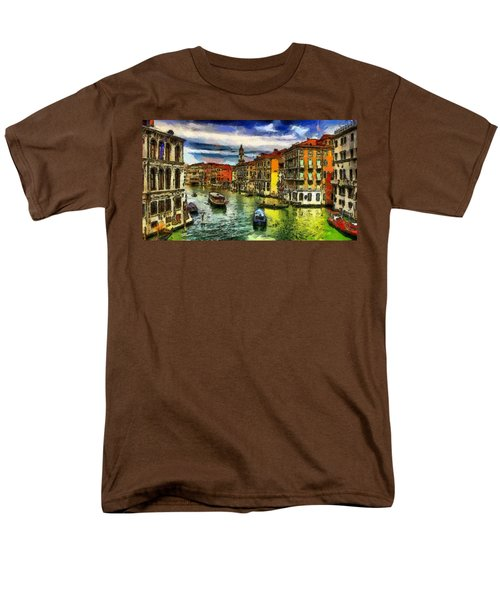 Men's T-Shirt  (Regular Fit) featuring the painting Beautiful Morning In Venice, Italy by Georgi Dimitrov