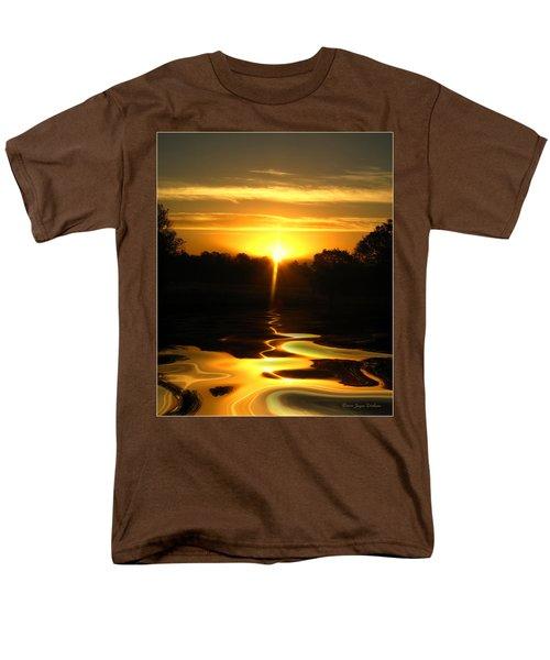 Mount Lassen Sunrise Gold Men's T-Shirt  (Regular Fit) by Joyce Dickens