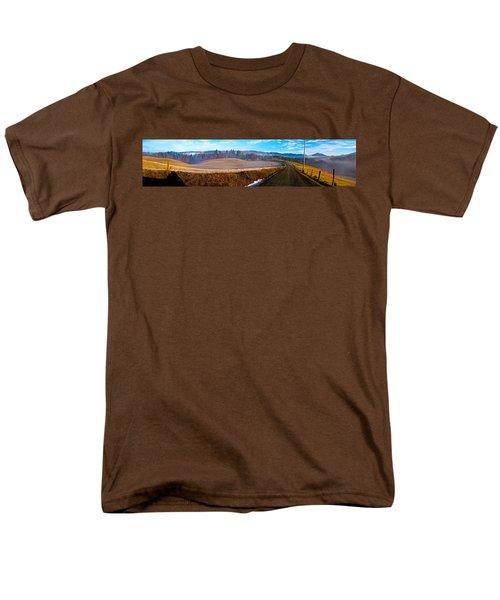 Mountain Farm Panorama Version 2 Men's T-Shirt  (Regular Fit) by Tom Culver