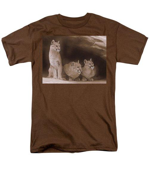 Mountain Lion Trio On Alert Men's T-Shirt  (Regular Fit) by Diane Alexander