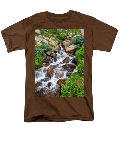 Men's T-Shirt  (Regular Fit) featuring the photograph Mountain Stream by Ronda Kimbrow