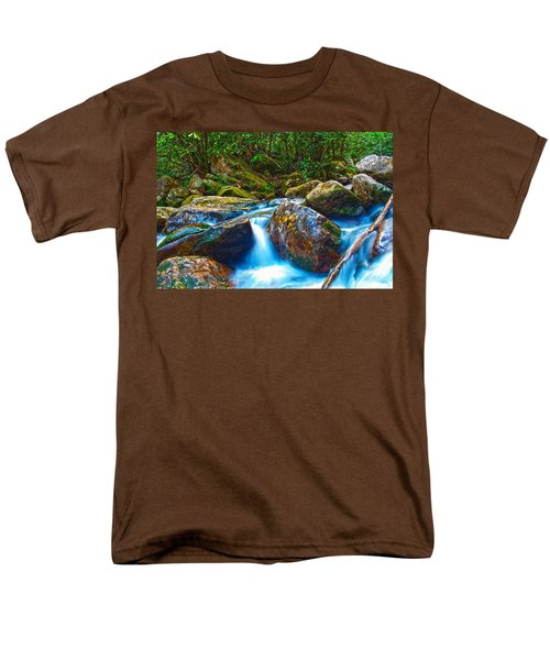Men's T-Shirt  (Regular Fit) featuring the photograph Mountain Streams by Alex Grichenko