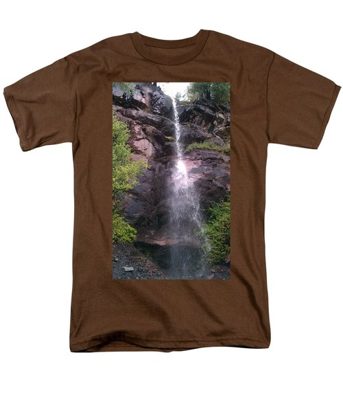 Men's T-Shirt  (Regular Fit) featuring the photograph Mountain Waterfall by Fortunate Findings Shirley Dickerson