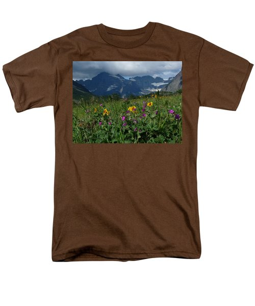 Mountain Wildflowers Men's T-Shirt  (Regular Fit) by Alan Socolik