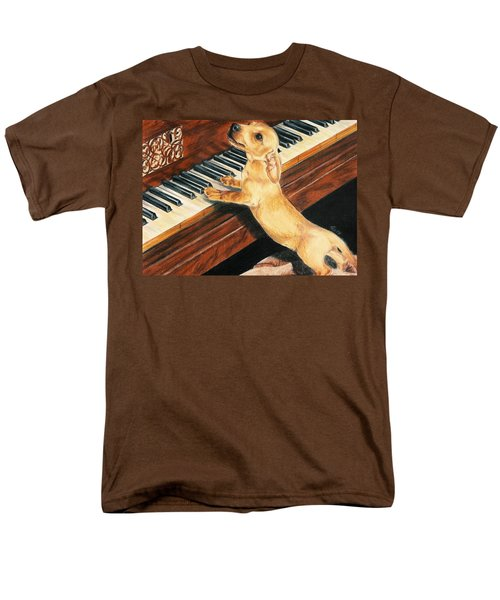 Men's T-Shirt  (Regular Fit) featuring the drawing Mozart's Apprentice by Barbara Keith