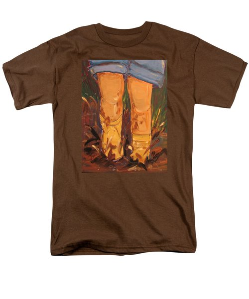 Mud Puddle Fun Men's T-Shirt  (Regular Fit) by Terri Einer