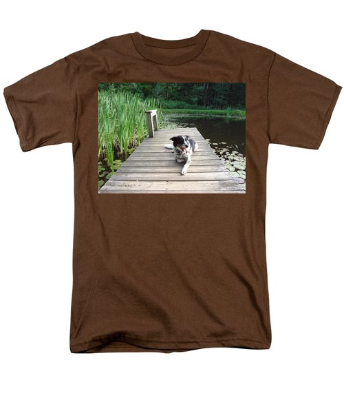 Mundee On The Dock Men's T-Shirt  (Regular Fit) by Michael Porchik