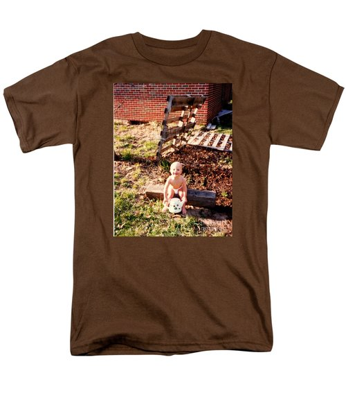 Men's T-Shirt  (Regular Fit) featuring the photograph My Lil Gardener by Kelly Awad
