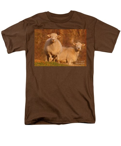 Men's T-Shirt  (Regular Fit) featuring the photograph My Sheep ...   by Lydia Holly