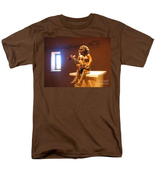 Men's T-Shirt  (Regular Fit) featuring the photograph Native American Art by Dora Sofia Caputo Photographic Art and Design