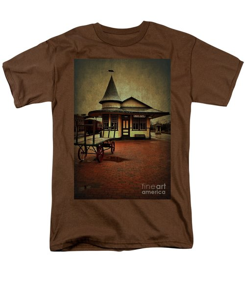 Men's T-Shirt  (Regular Fit) featuring the photograph New Hope Ivyland Train Station by Debra Fedchin