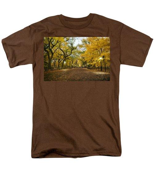 New York City - Autumn - Central Park - Literary Walk Men's T-Shirt  (Regular Fit) by Vivienne Gucwa