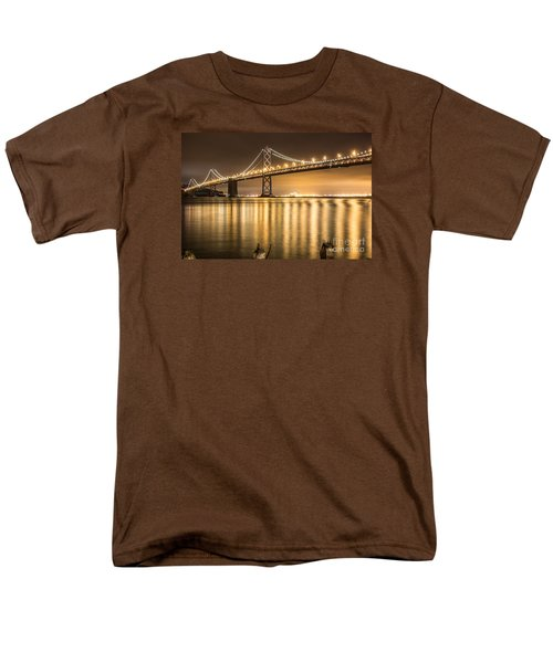 Men's T-Shirt  (Regular Fit) featuring the photograph Night Descending On The Bay Bridge by Suzanne Luft