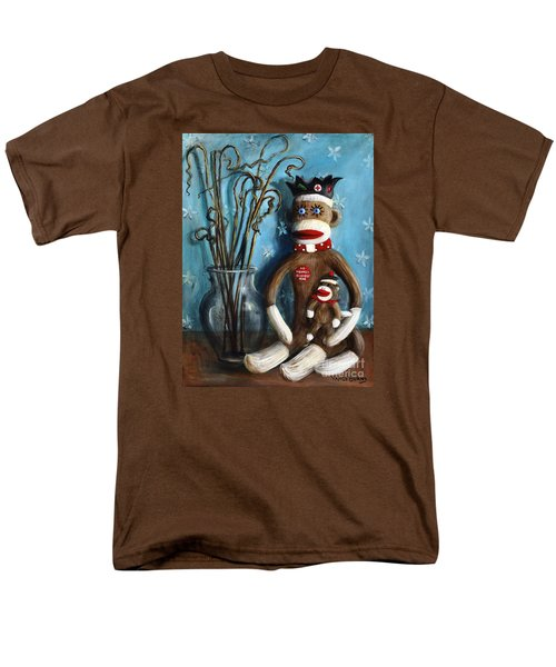 No Monkey Business Here 1 Men's T-Shirt  (Regular Fit) by Randy Burns