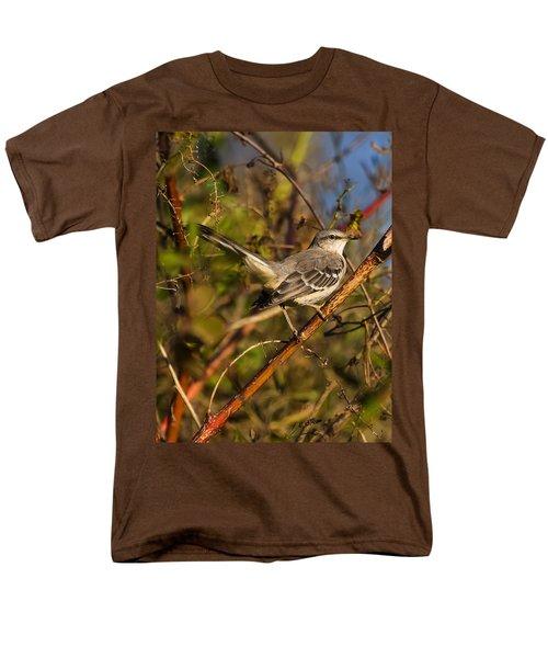 Northern Mockingbird Men's T-Shirt  (Regular Fit) by Chris Flees