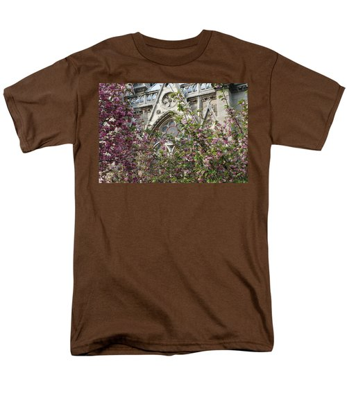 Men's T-Shirt  (Regular Fit) featuring the photograph Notre Dame In April by Jennifer Ancker
