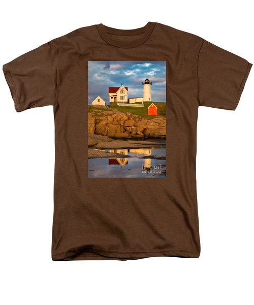 Nubble Lighthouse No 1 Men's T-Shirt  (Regular Fit) by Jerry Fornarotto