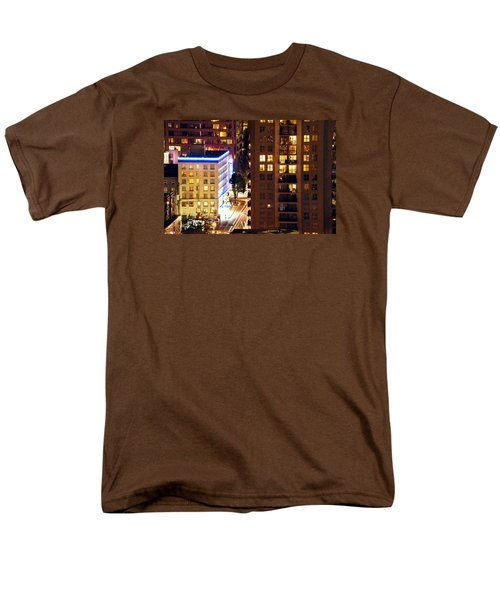 Men's T-Shirt  (Regular Fit) featuring the photograph Observation - Man In Window Dclxxxi by Amyn Nasser